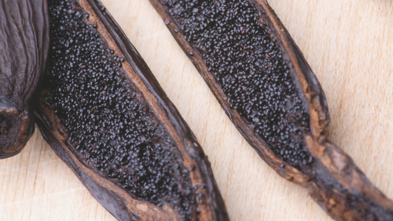 Vanilla pods should be oily, plump and fleshy, and black or dark brown.