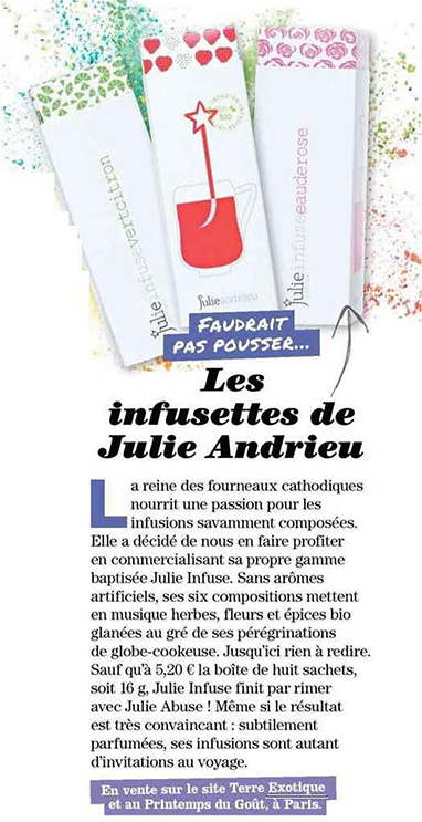 Les infusettes cle Julie Andrieu