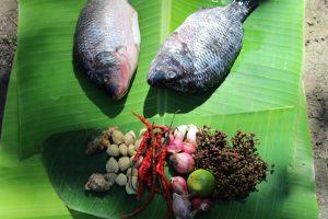 Préparation plat typique des Bataks