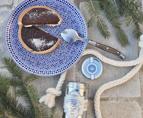 Tarte au chocolat et givre de sel Terre Exotique