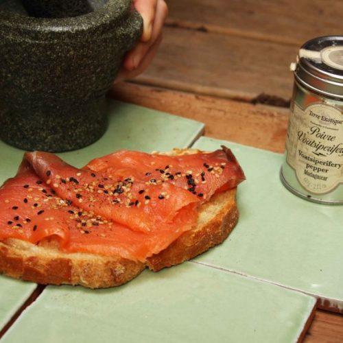 tartine saumon
