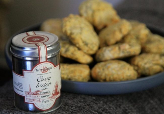 cookies curry breton