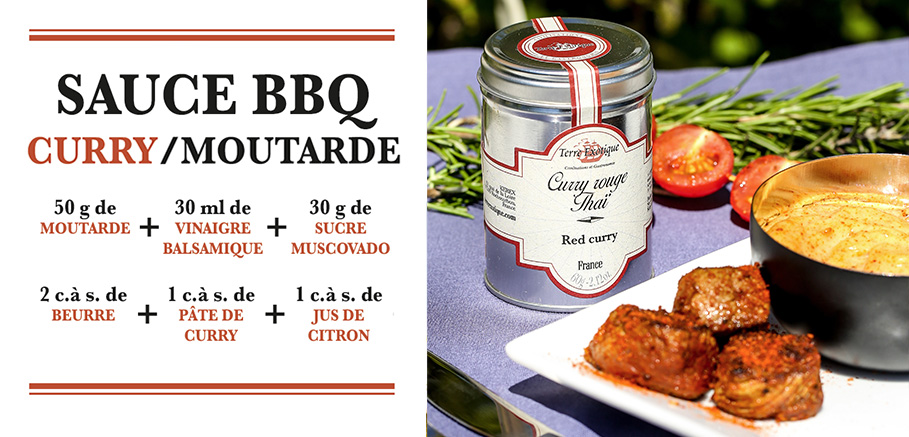 sauce bbq curry moutarde