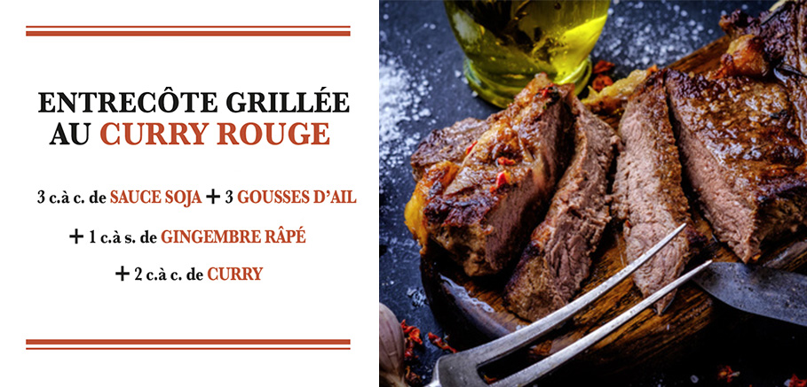 entrecote curry rouge