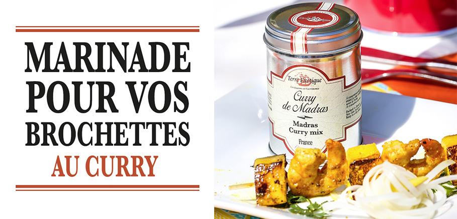 marinade brochettes curry