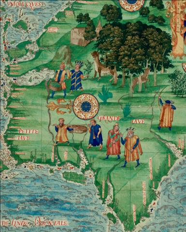 Guillaume Le Testu, Iles aux épices (Indonésie), Cosmographie universelle, 1555,