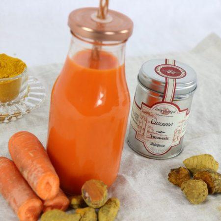 Jus de carotte curcuma