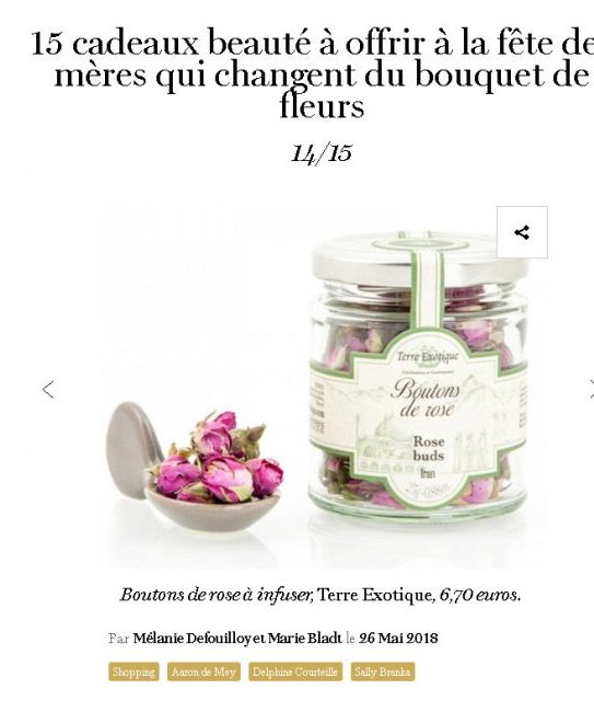 Article Boutons de rose dans Vogue