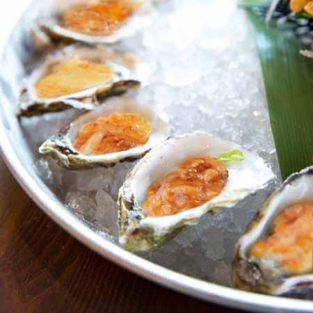 Huîtres gratinées au vin blanc