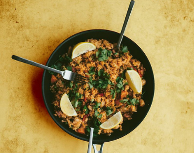 Recette paella poulet Lapin - Terre Exotique