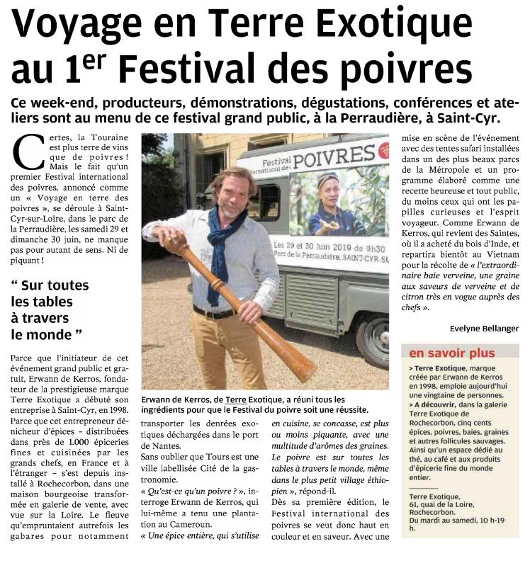 Festival International des Poivres - Revue de Presse - Terre Exotique