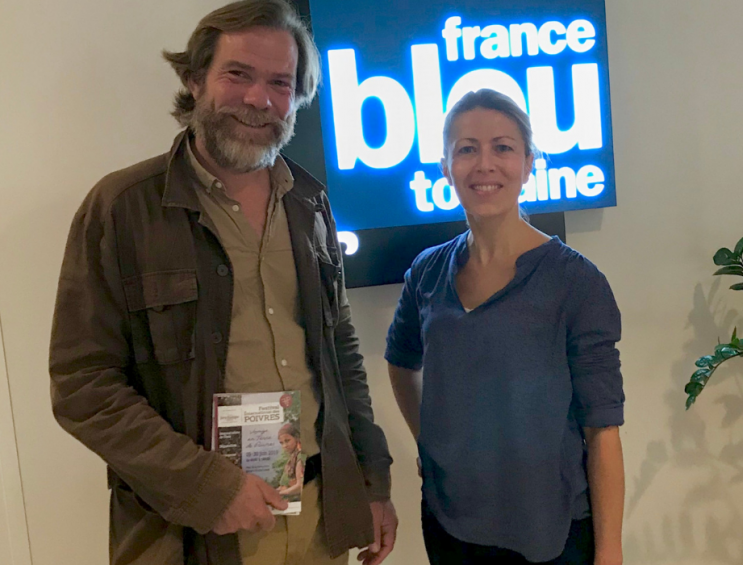 """Festival International des Poivres, dans l'émission de Richard Mazoué """"La Vie en Bleu"""". (France Bleu Touraine, le 14 juin 2019)."""