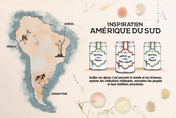 Les épices Terre Exotique font escales en Amérique du Sud