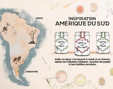 Les épices Terre Exotique font escale en Amérique du Sud