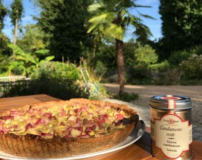 Recette Tarte Rhubarbe & cardamome - Terre Exotique