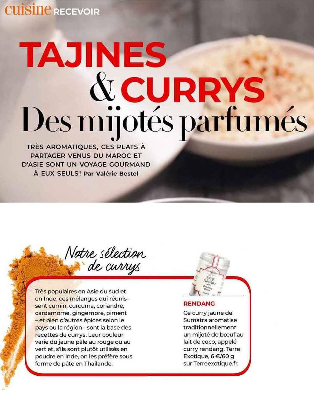 revue de presse - tajines et curry